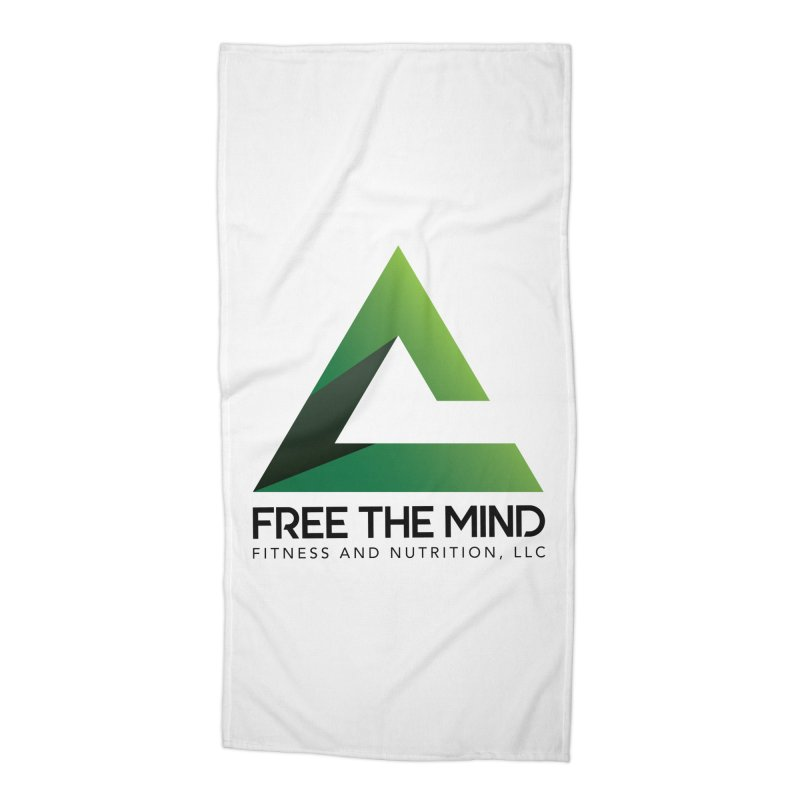 Free the Mind (Stacked) Accessories Beach Towel by Free the Mind Fitness Shop