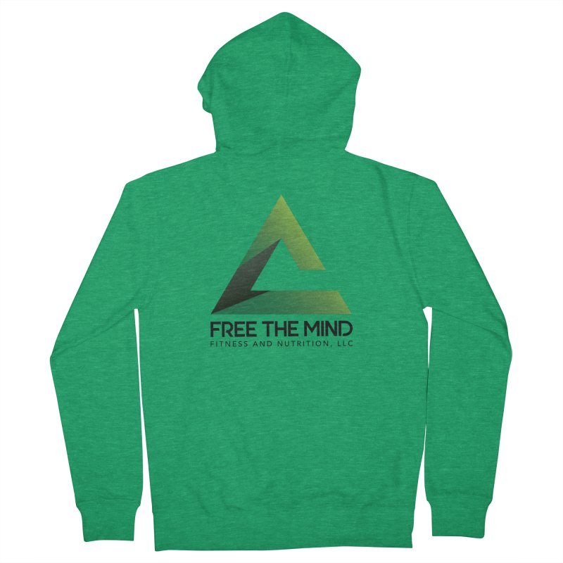 Free the Mind (Stacked) Men's Zip-Up Hoody by Free the Mind Fitness Shop