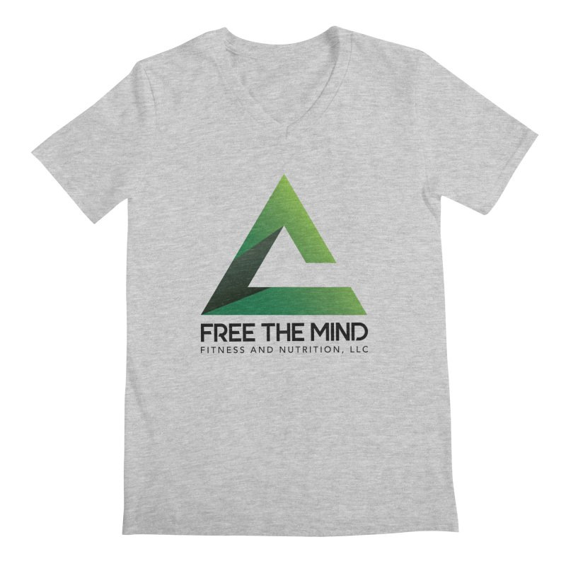 Free the Mind (Stacked) Men's V-Neck by Free the Mind Fitness Shop