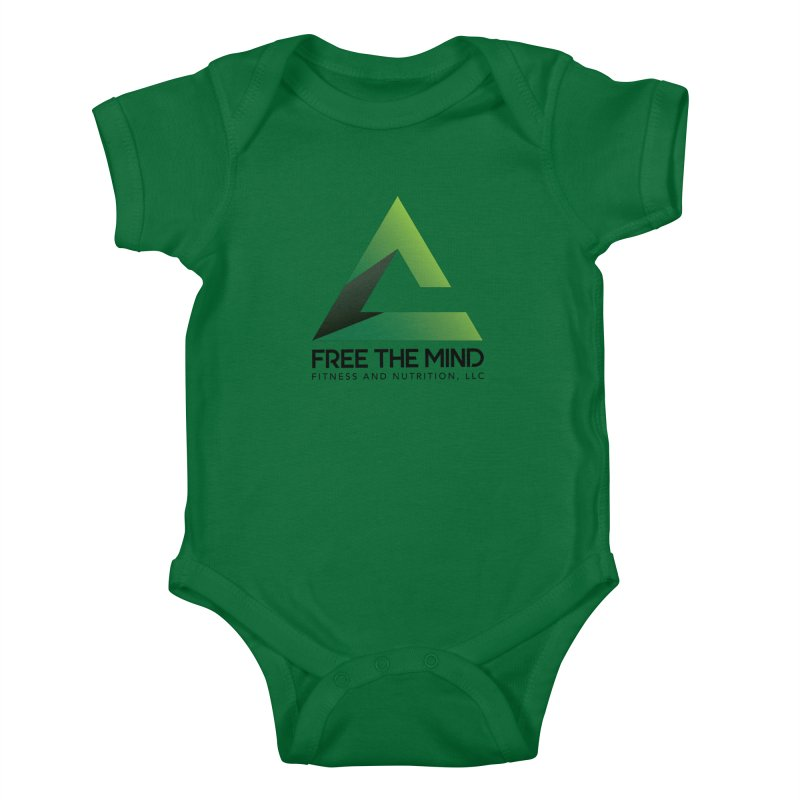 Free the Mind (Stacked) Kids Baby Bodysuit by Free the Mind Fitness Shop