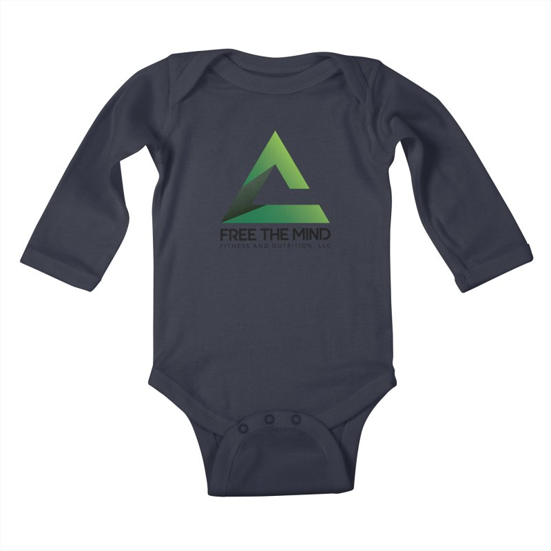 Free the Mind (Stacked) Kids Baby Longsleeve Bodysuit by Free the Mind Fitness Shop