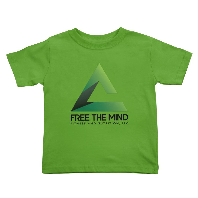 Free the Mind (Stacked) Kids Toddler T-Shirt by Free the Mind Fitness Shop