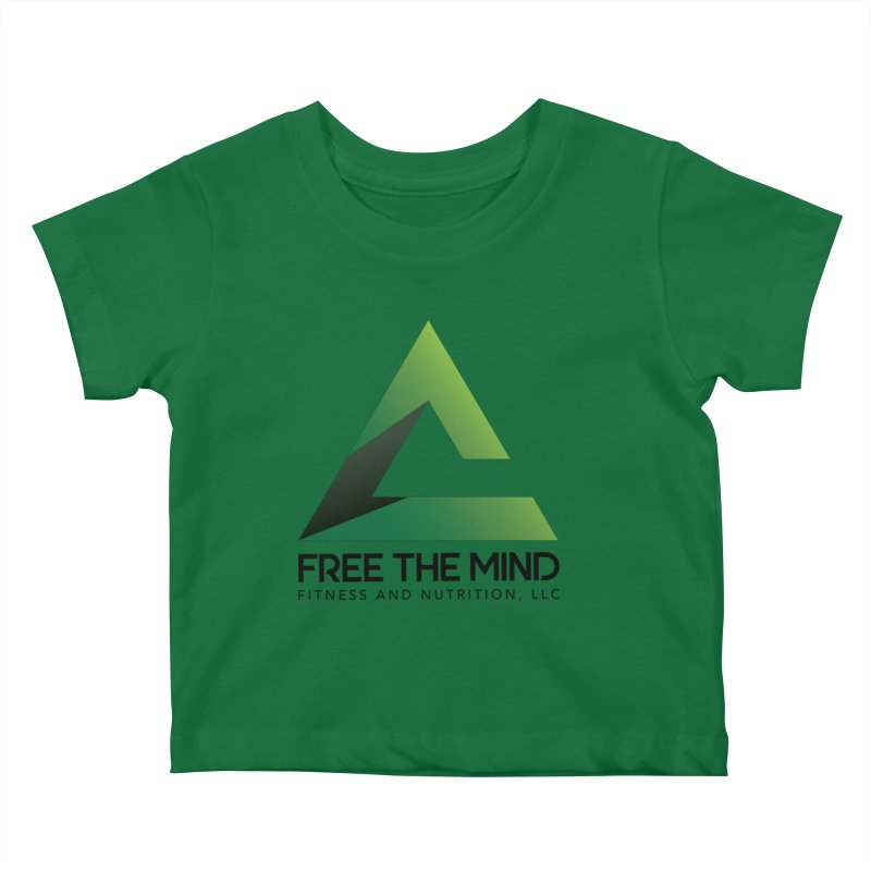 Free the Mind (Stacked) Kids Baby T-Shirt by Free the Mind Fitness Shop