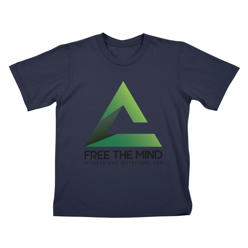 Free the Mind (Stacked) Kids T-Shirt by Free the Mind Fitness Shop