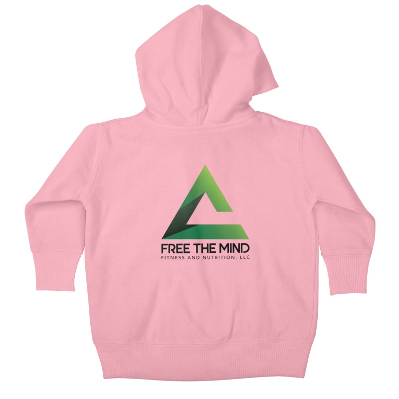 Free the Mind (Stacked) Kids Baby Zip-Up Hoody by Free the Mind Fitness Shop