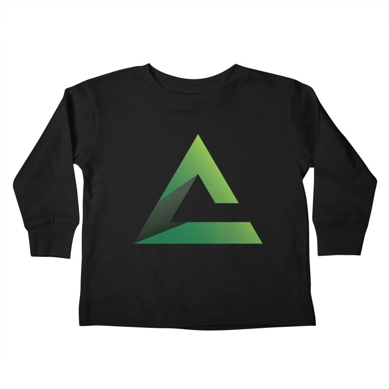 Free the Mind (Stacked) Kids Toddler Longsleeve T-Shirt by Free the Mind Fitness Shop