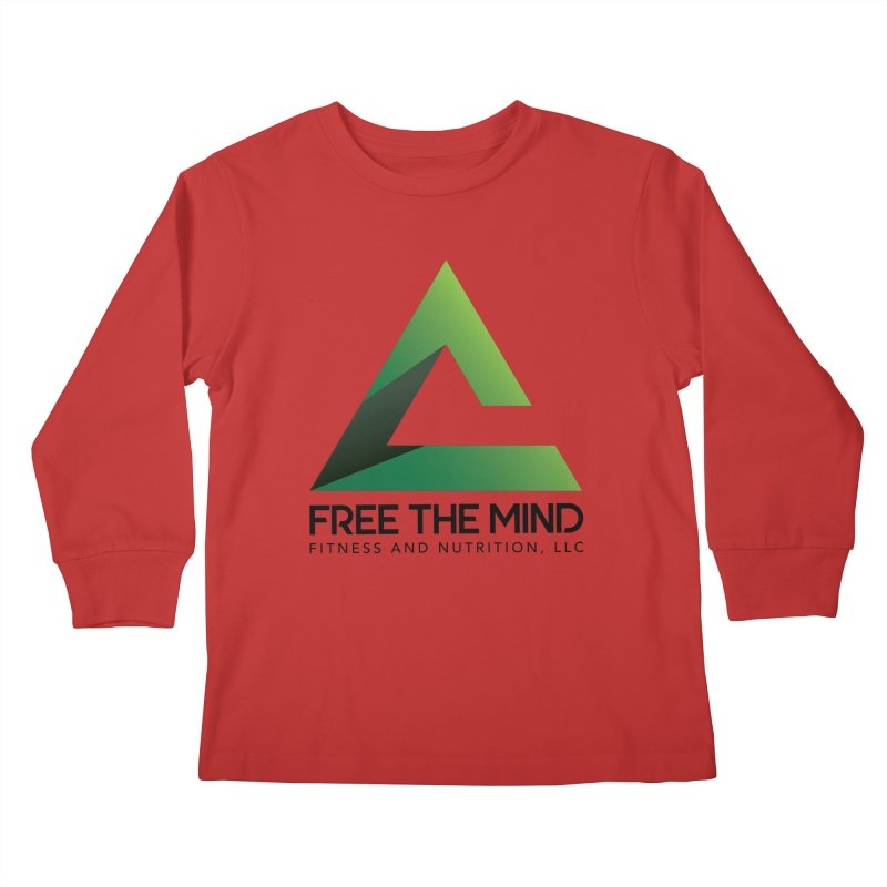Free the Mind (Stacked) Kids Longsleeve T-Shirt by Free the Mind Fitness Shop
