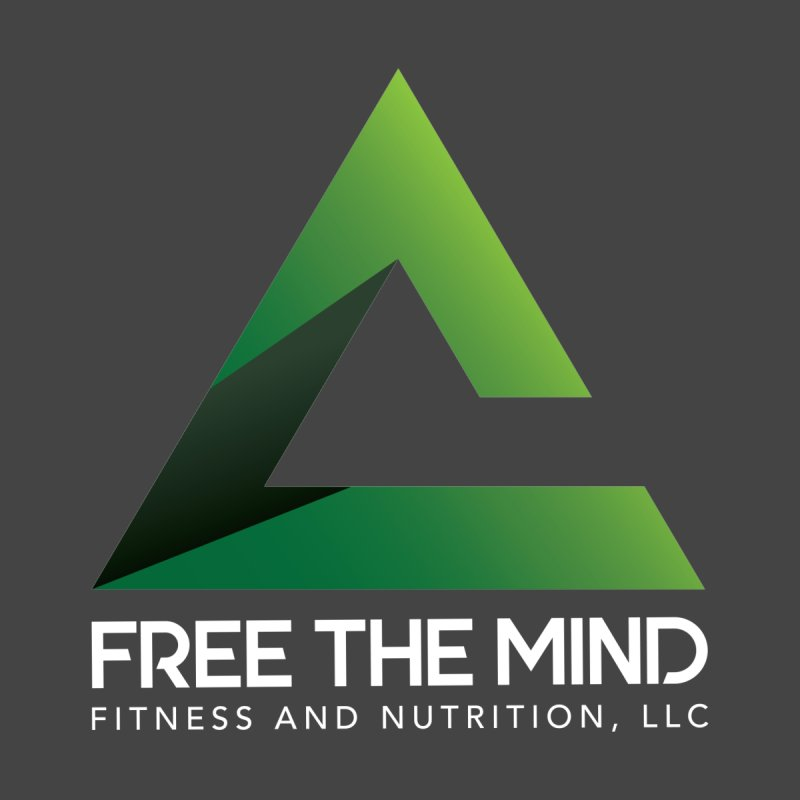 Free the Mind (Stacked, White) Accessories Notebook by Free the Mind Fitness Shop