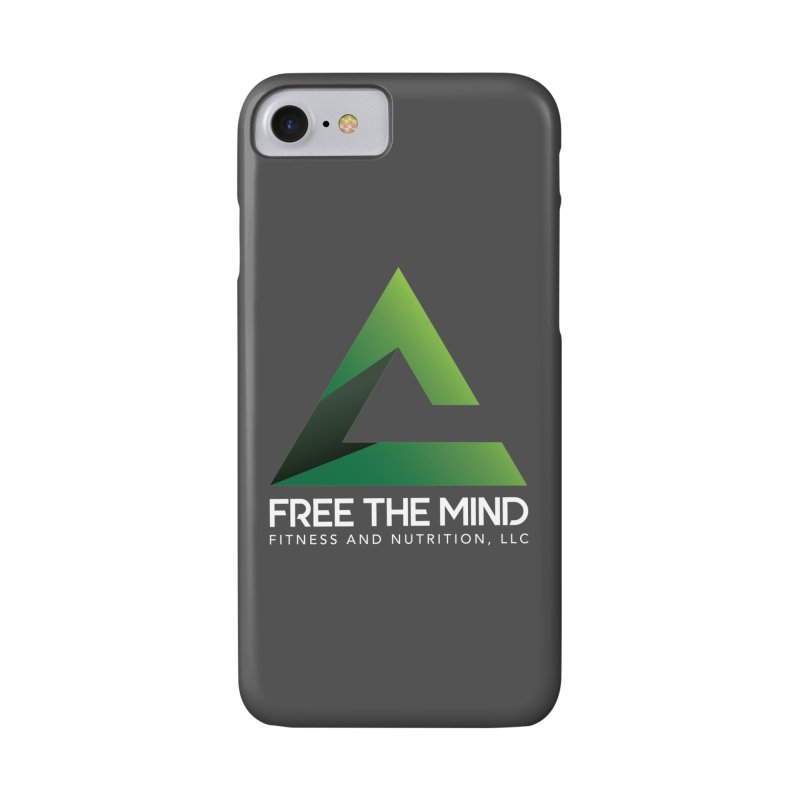 Free the Mind (Stacked, White) Accessories Phone Case by Free the Mind Fitness Shop
