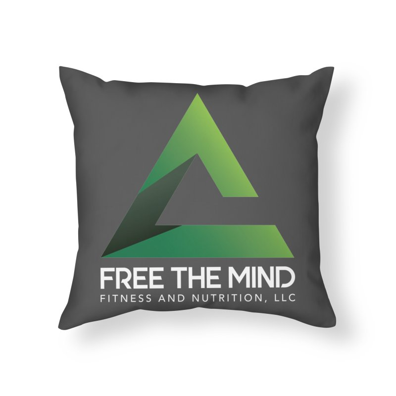 Free the Mind (Stacked, White) Home Throw Pillow by Free the Mind Fitness Shop