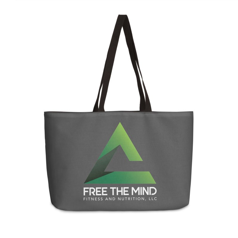 Free the Mind (Stacked, White) Accessories Bag by Free the Mind Fitness Shop