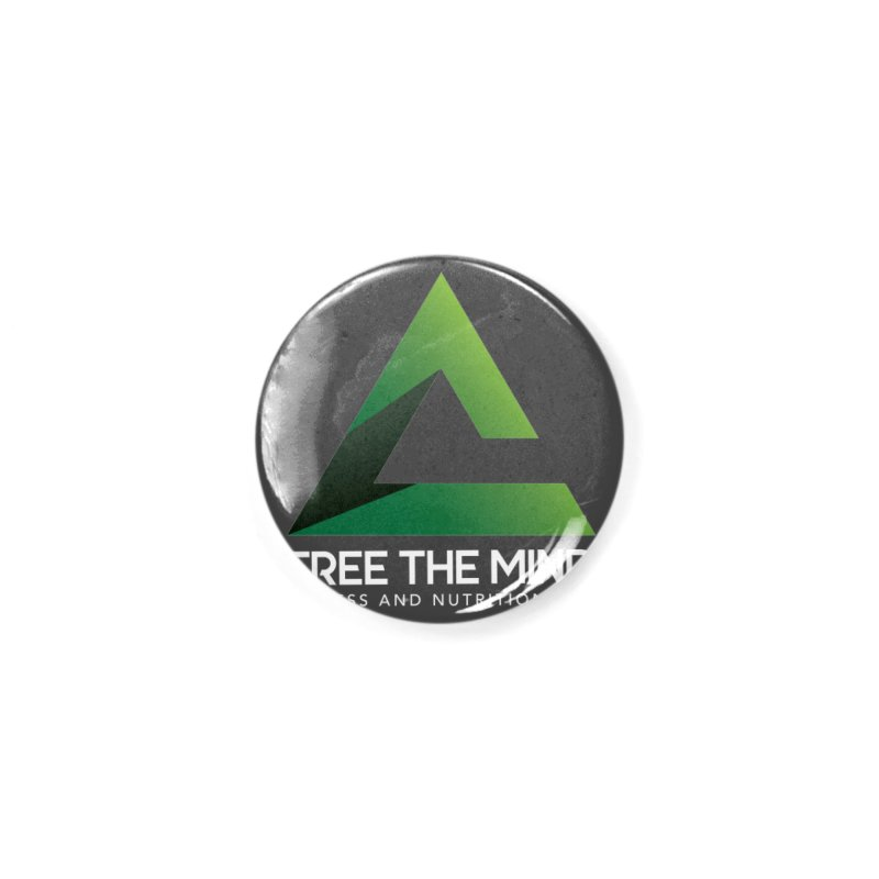 Free the Mind (Stacked, White) Accessories Button by Free the Mind Fitness Shop
