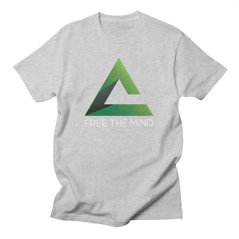 Free the Mind (Stacked, White) Women's T-Shirt by Free the Mind Fitness Shop
