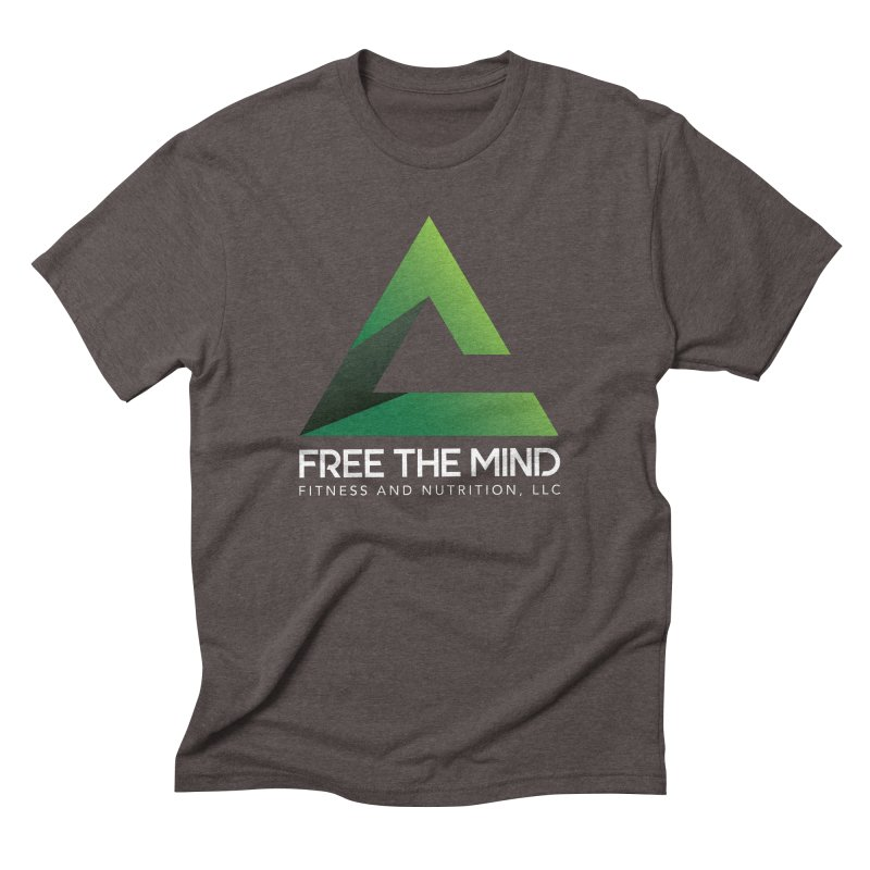 Free the Mind (Stacked, White) Men's T-Shirt by Free the Mind Fitness Shop