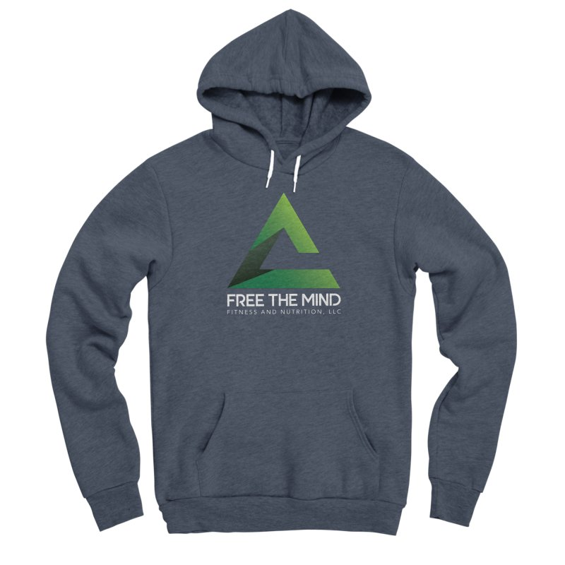 Free the Mind (Stacked, White) Men's Pullover Hoody by Free the Mind Fitness Shop