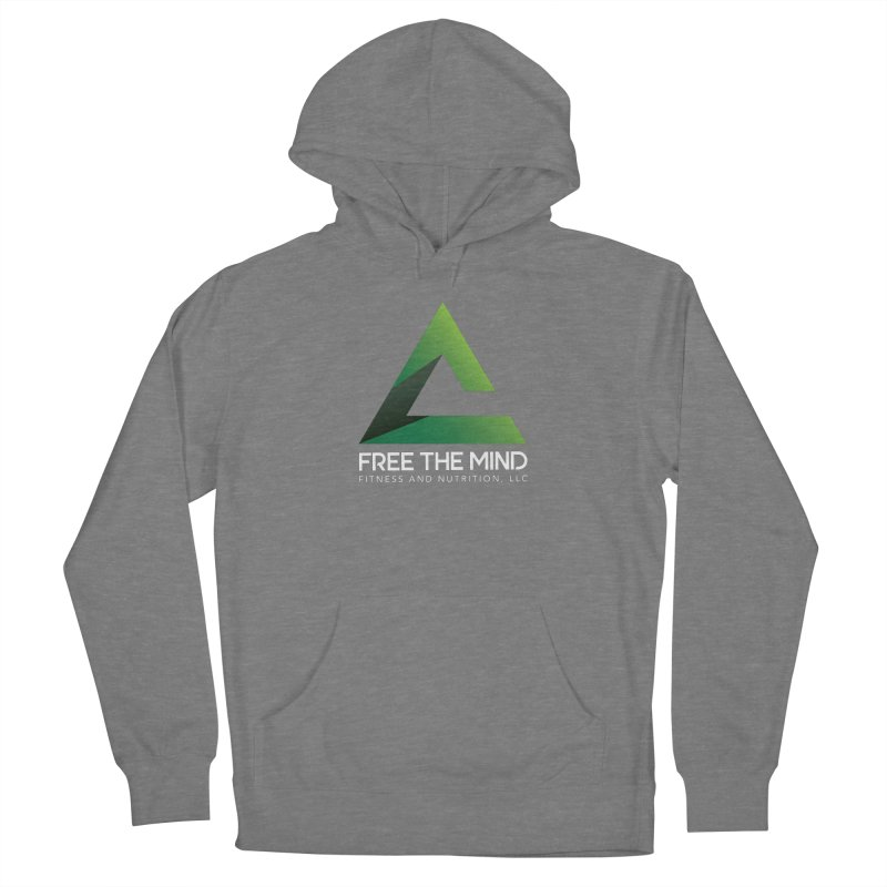 Free the Mind (Stacked, White) Women's Pullover Hoody by Free the Mind Fitness Shop