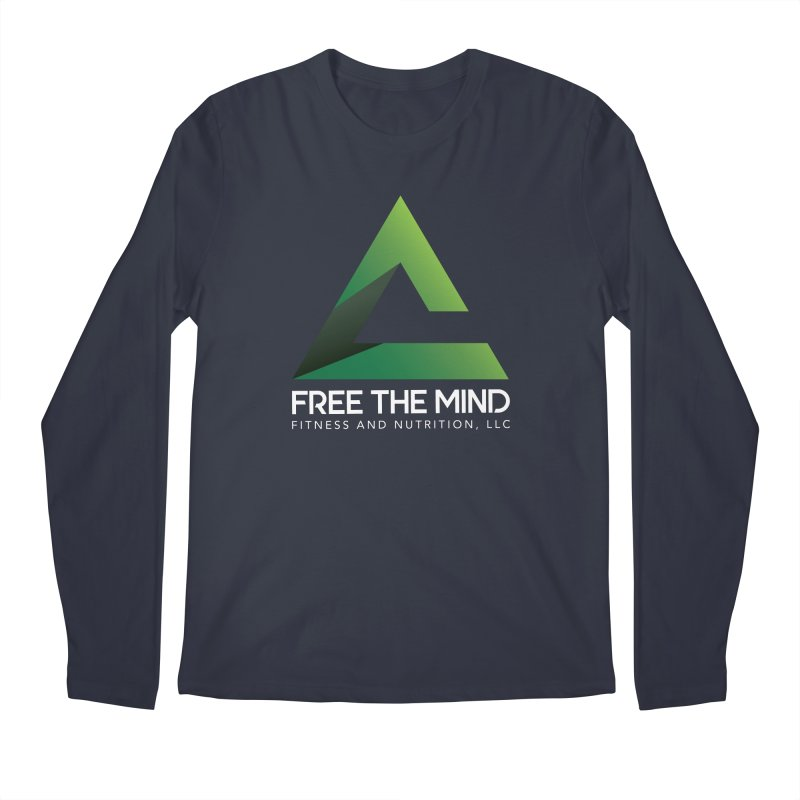 Free the Mind (Stacked, White) Men's Longsleeve T-Shirt by Free the Mind Fitness Shop
