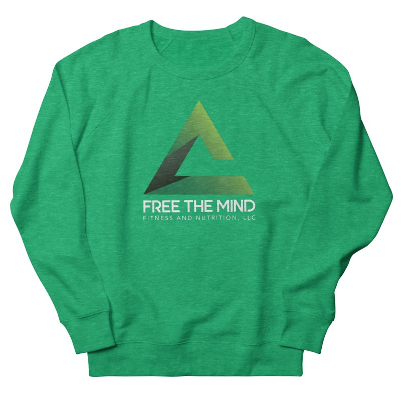 Free the Mind (Stacked, White) Women's Sweatshirt by Free the Mind Fitness Shop