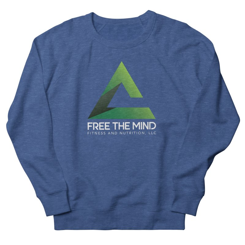 Free the Mind (Stacked, White) Men's Sweatshirt by Free the Mind Fitness Shop