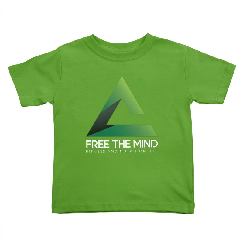 Free the Mind (Stacked, White) Kids Toddler T-Shirt by Free the Mind Fitness Shop
