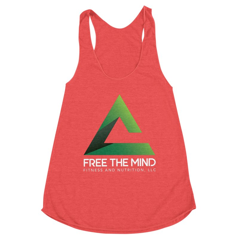 Free the Mind (Stacked, White) Women's Tank by Free the Mind Fitness Shop