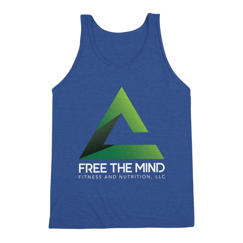 Free the Mind (Stacked, White) Men's Tank by Free the Mind Fitness Shop
