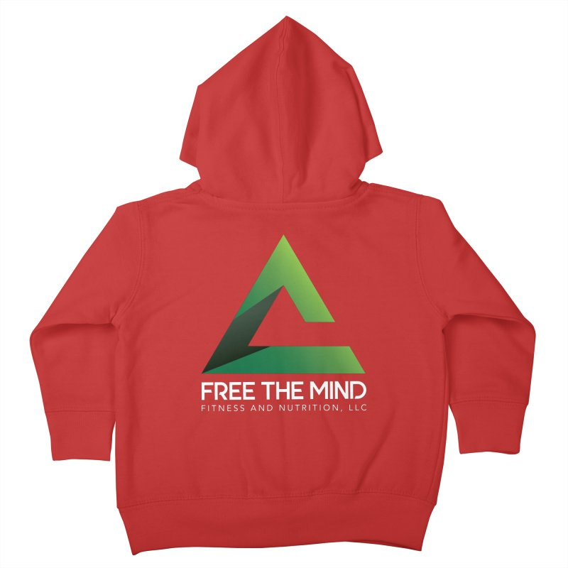 Free the Mind (Stacked, White) Kids Toddler Zip-Up Hoody by Free the Mind Fitness Shop