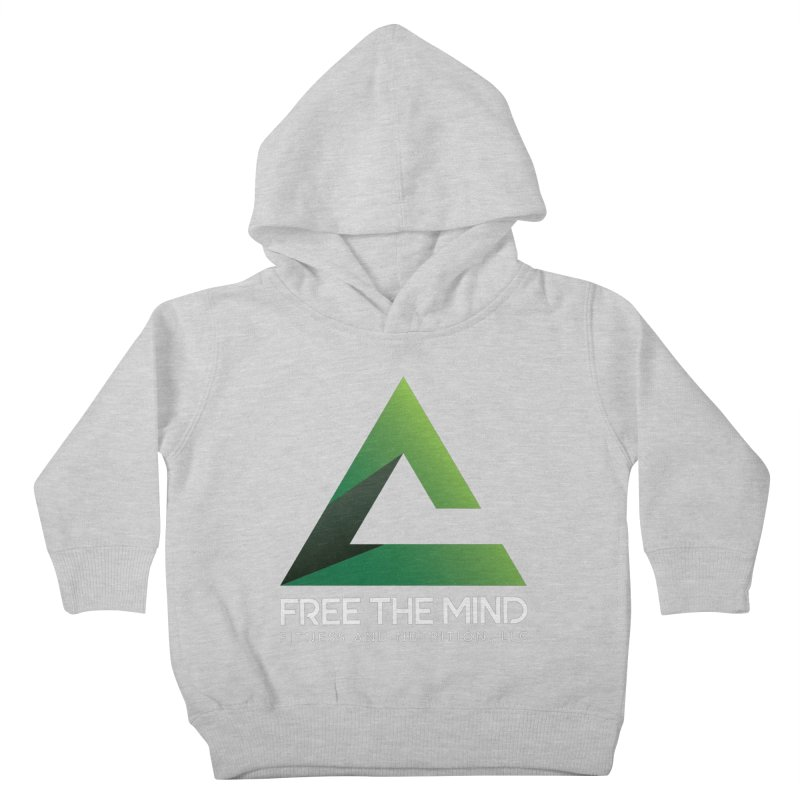 Free the Mind (Stacked, White) Kids Toddler Pullover Hoody by Free the Mind Fitness Shop