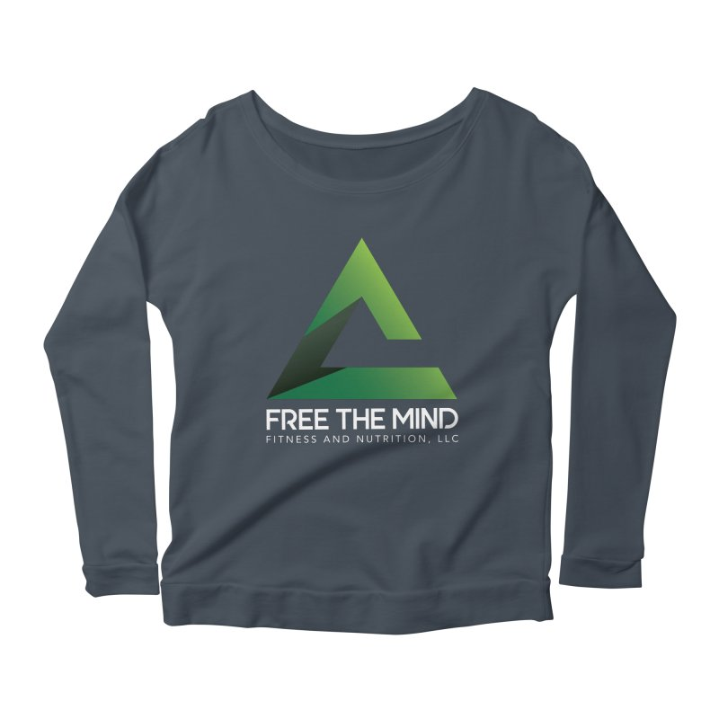 Free the Mind (Stacked, White) Women's Longsleeve T-Shirt by Free the Mind Fitness Shop