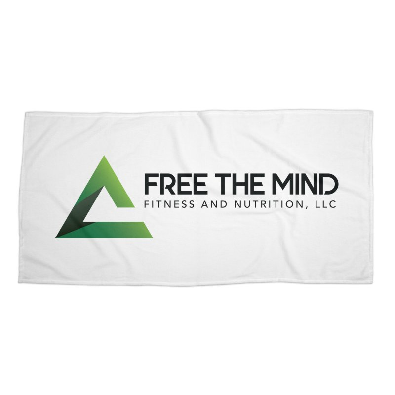 Free the Mind (Horizontal) Accessories Beach Towel by Free the Mind Fitness Shop