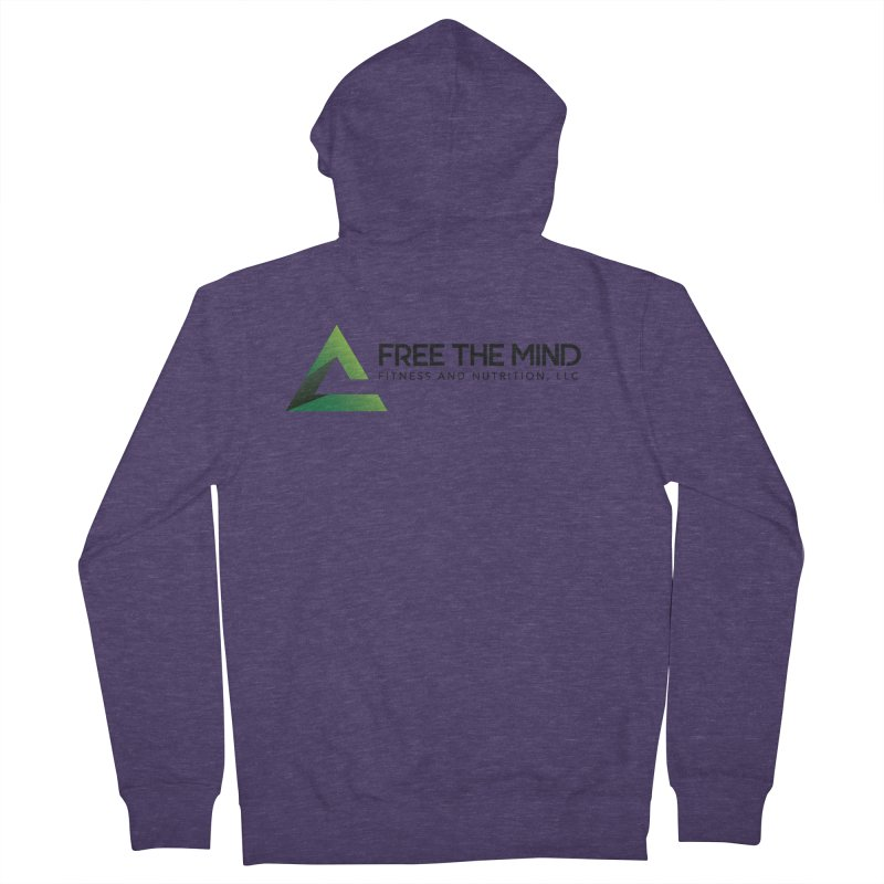 Free the Mind (Horizontal) Men's Zip-Up Hoody by Free the Mind Fitness Shop