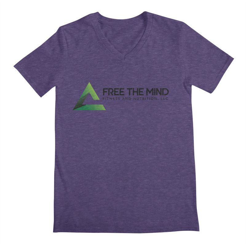 Free the Mind (Horizontal) Men's V-Neck by Free the Mind Fitness Shop