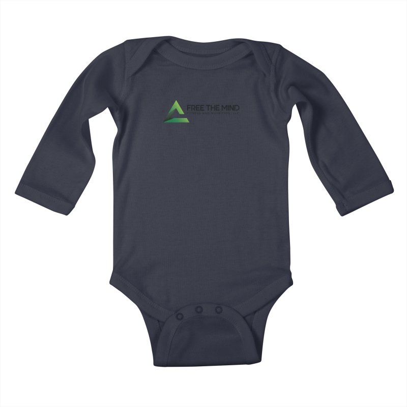 Free the Mind (Horizontal) Kids Baby Longsleeve Bodysuit by Free the Mind Fitness Shop
