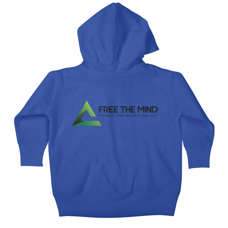 Free the Mind (Horizontal) Kids Baby Zip-Up Hoody by Free the Mind Fitness Shop