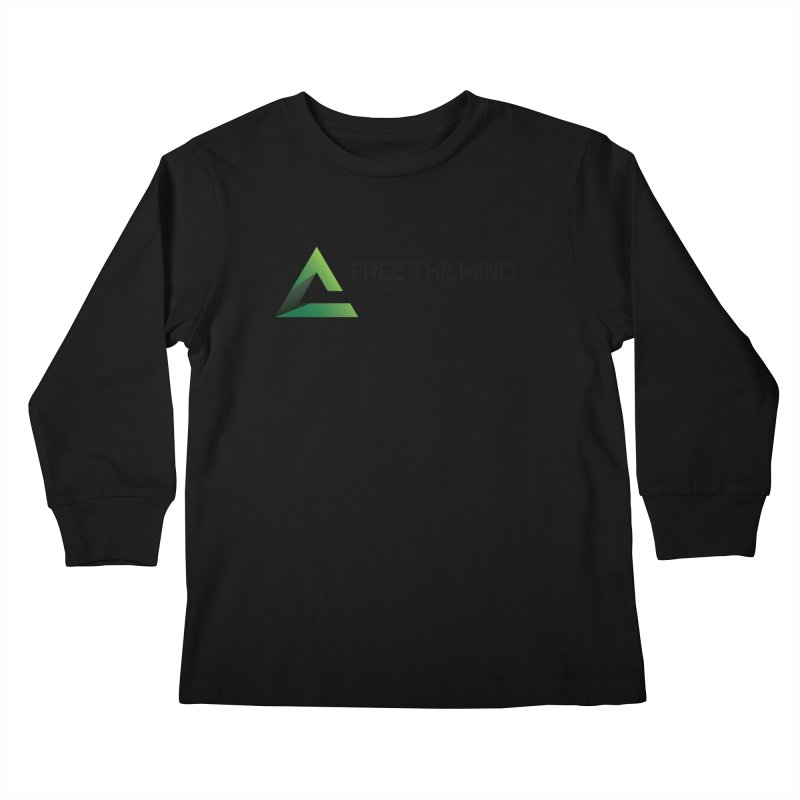 Free the Mind (Horizontal) Kids Longsleeve T-Shirt by Free the Mind Fitness Shop
