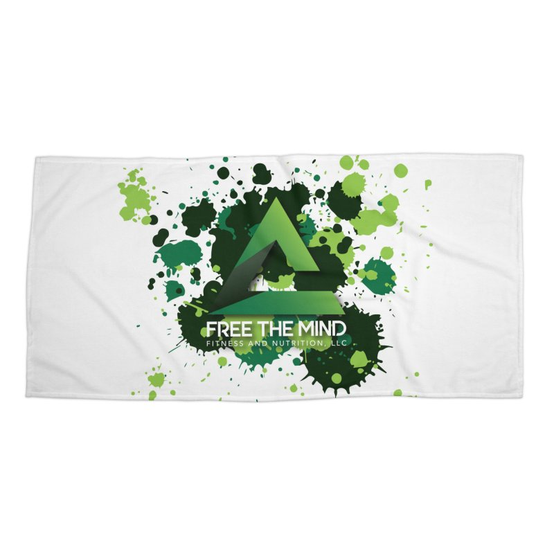 Splatter Accessories Beach Towel by Free the Mind Fitness Shop
