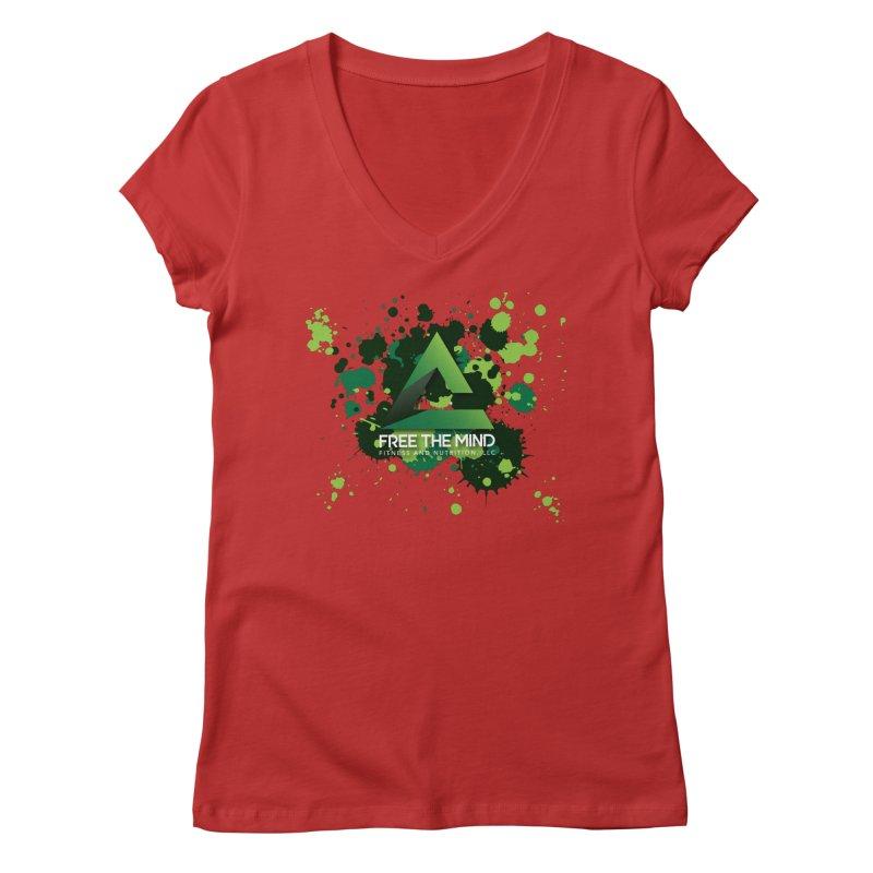 Splatter Women's V-Neck by Free the Mind Fitness Shop