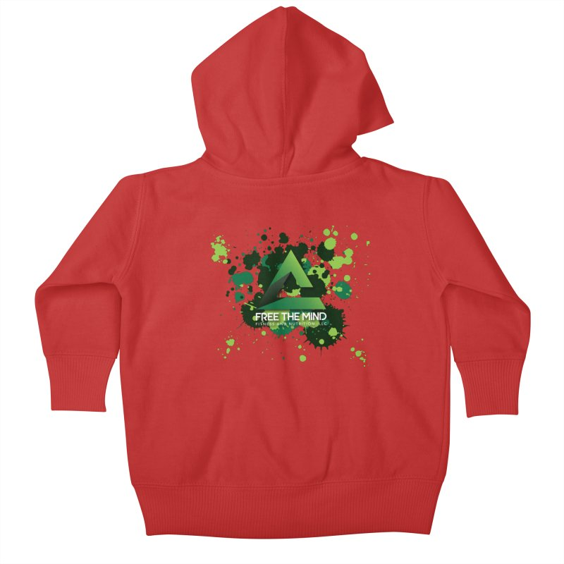 Splatter Kids Baby Zip-Up Hoody by Free the Mind Fitness Shop