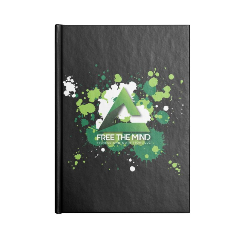 Splatter-Dark Accessories Notebook by Free the Mind Fitness Shop