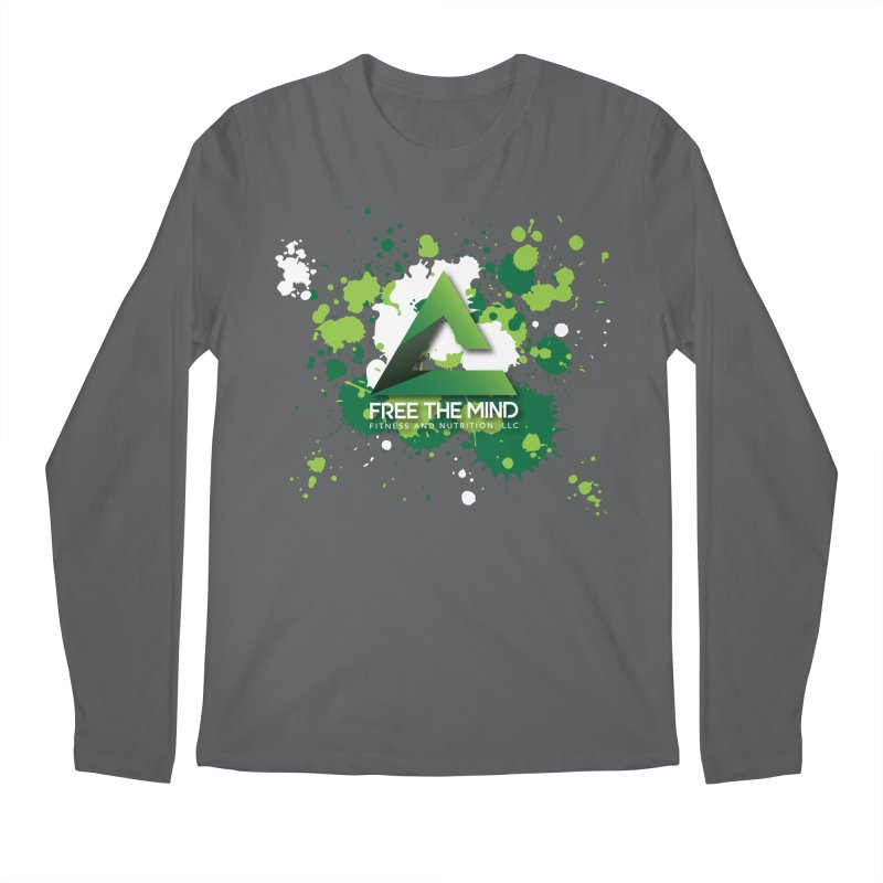 Splatter-Dark Men's Longsleeve T-Shirt by Free the Mind Fitness Shop