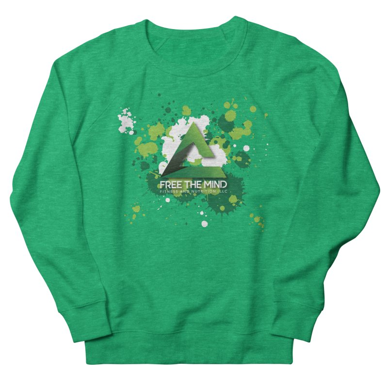 Splatter-Dark Women's Sweatshirt by Free the Mind Fitness Shop