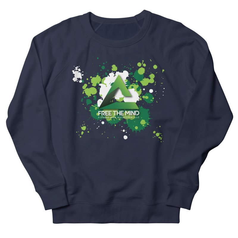 Splatter-Dark Men's Sweatshirt by Free the Mind Fitness Shop