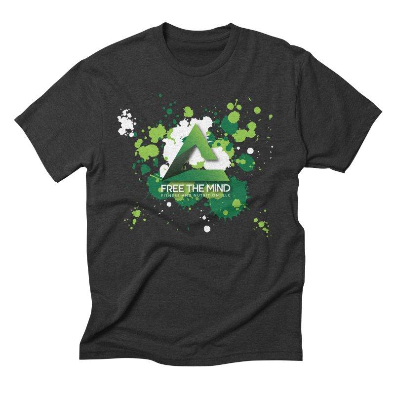 Splatter-Dark Men's T-Shirt by Free the Mind Fitness Shop