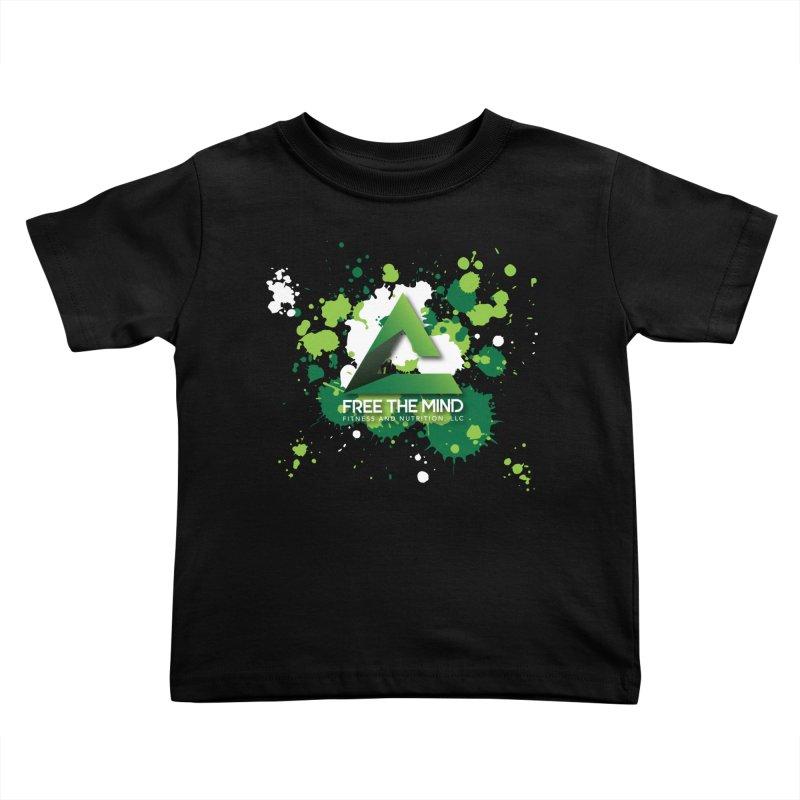 Splatter-Dark Kids Toddler T-Shirt by Free the Mind Fitness Shop