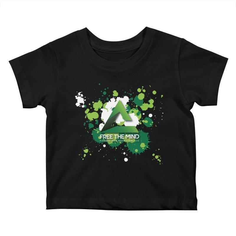 Splatter-Dark Kids Baby T-Shirt by Free the Mind Fitness Shop