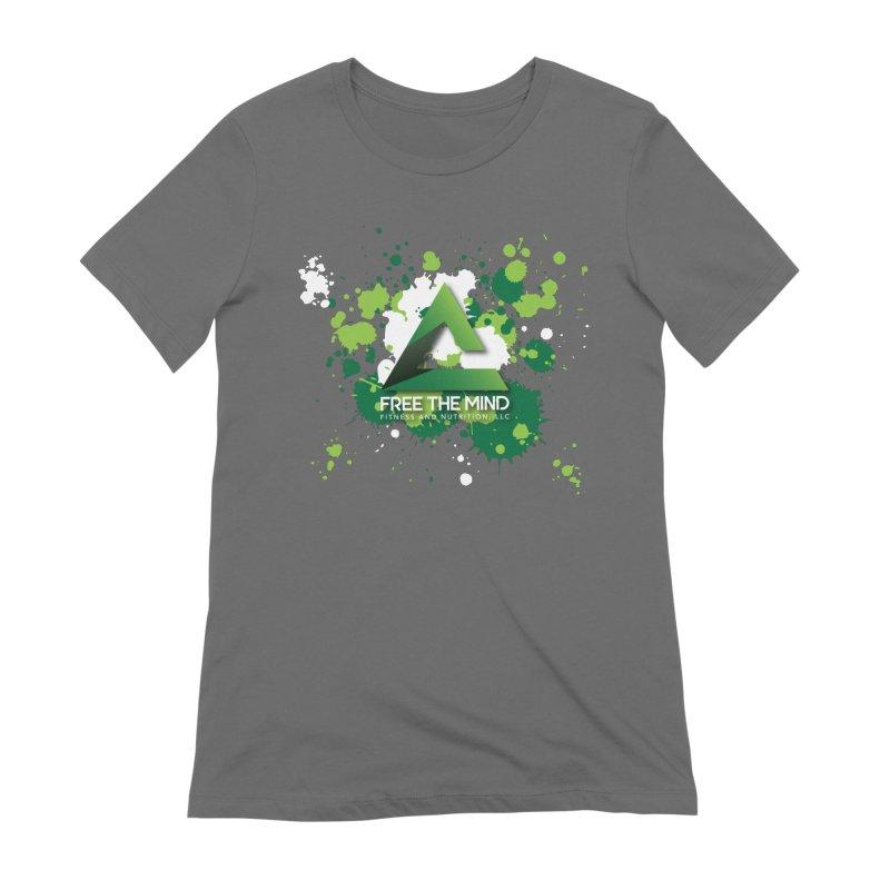 Splatter-Dark Women's T-Shirt by Free the Mind Fitness Shop