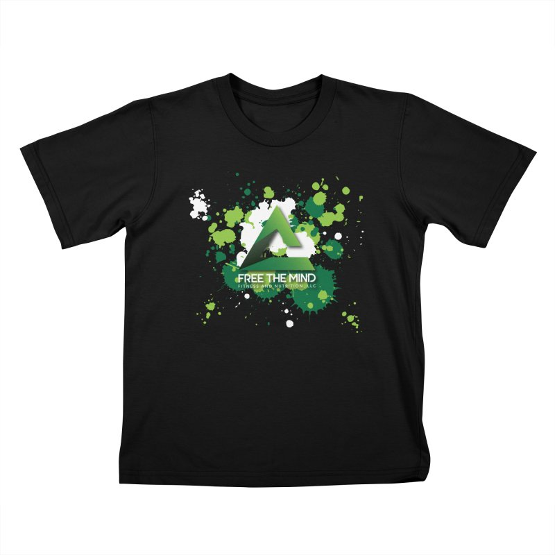 Splatter-Dark Kids T-Shirt by Free the Mind Fitness Shop
