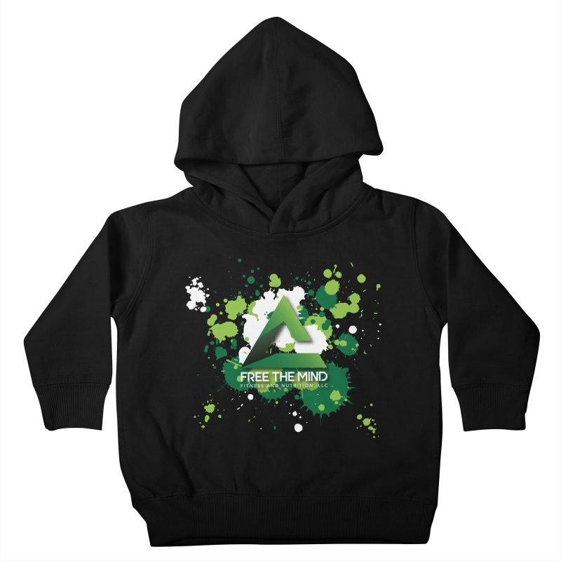Splatter-Dark Kids Toddler Pullover Hoody by Free the Mind Fitness Shop