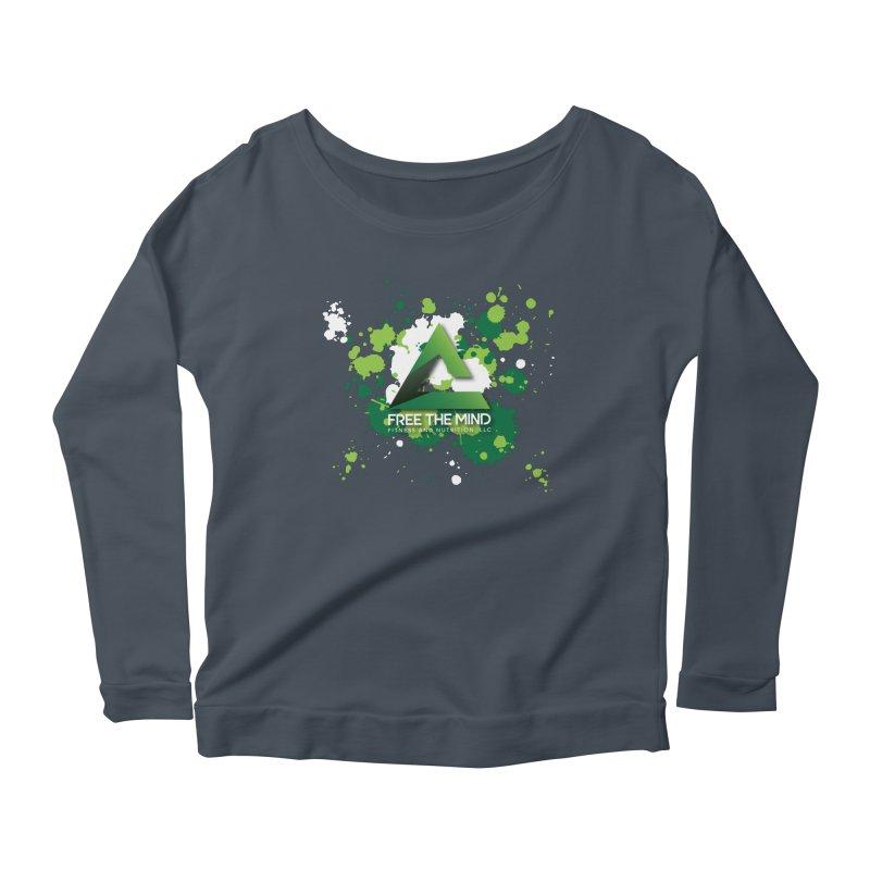 Splatter-Dark Women's Longsleeve T-Shirt by Free the Mind Fitness Shop