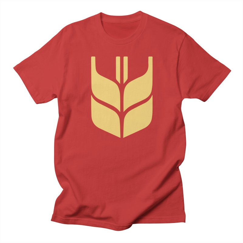 Canadian Wheat Board in Men's Regular T-Shirt Red by Freight Culture Tees